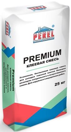Perel Клей для камня искусственного натурального, клей для клинкерной плитки, керамогранита Premium, 25 кг.